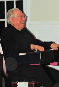 Bob on keyboard and laughing