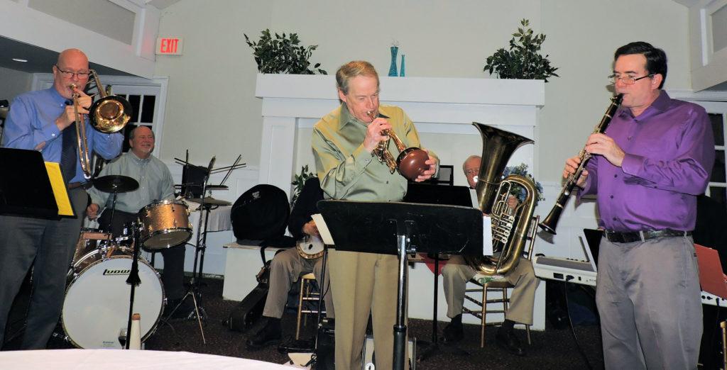 trombone, cornet, clarinet with