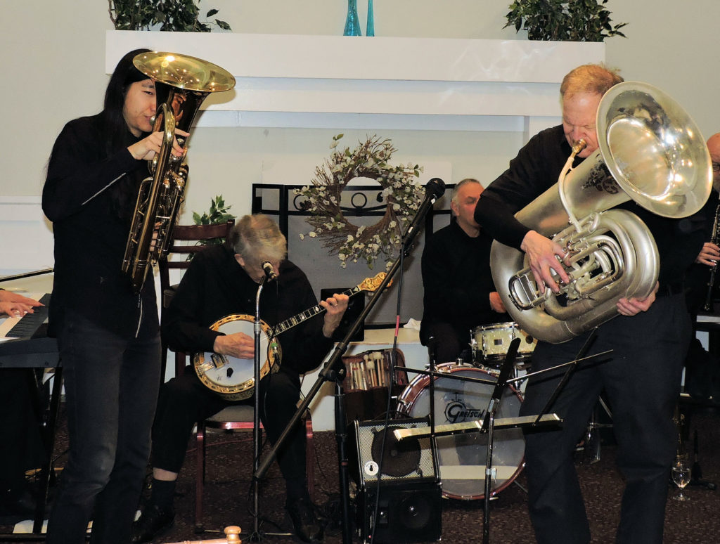 euphonium, banjo, tuba
