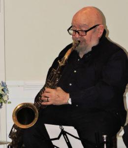 Ted playing tenor sax