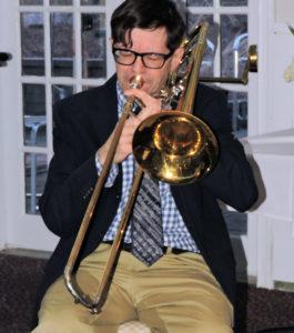 John on trombone
