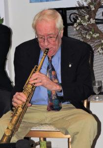 Stan on soprano saxophone