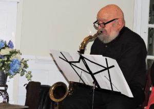 Ted on tenor sax